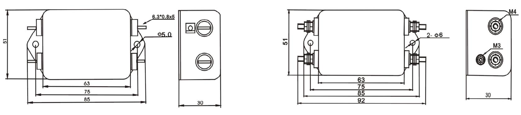 DAA1  Series EMI power noise filters (3)